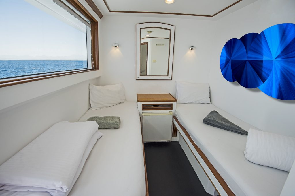 Cruise Ship Cabin Interior with custom cut ChromaLuxe
