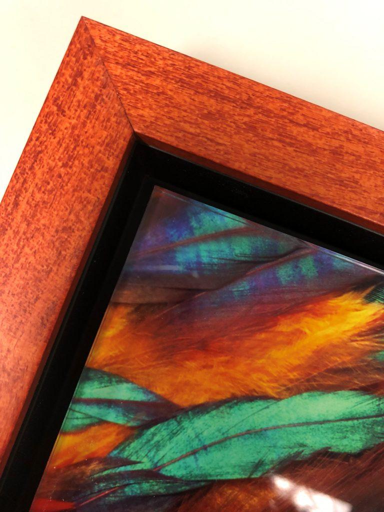 float framed acrylic print close-up